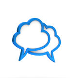 Blue cloudy dialog icon Stock Image