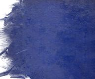 Blue cloudy paint with grunge feather edge Royalty Free Stock Photo