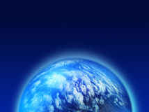 Blue cloudy planet Royalty Free Stock Images