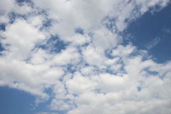 Blue Cloudy Skies for Backgrounds Stock Image