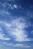 Blue cloudy sky Royalty Free Stock Photos