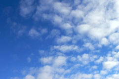 Blue cloudy sky. Beautiful blue cloudy sky as background Royalty Free Stock Photography