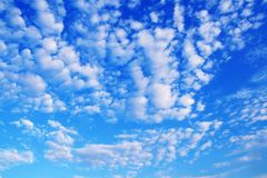 Blue cloudy sky Royalty Free Stock Image