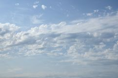 Blue cloudy sky.Background royalty free stock photos