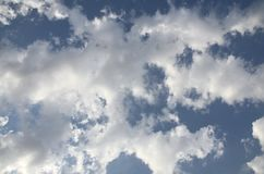 Blue cloudy sky.Background stock image