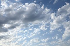 Blue cloudy sky.Background stock photo