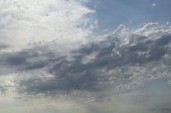 Blue cloudy sky.Background stock photos
