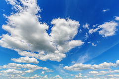 Blue cloudy sky Stock Photography