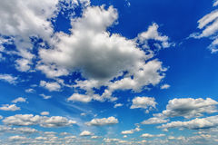 Blue cloudy sky Royalty Free Stock Photography
