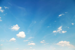 Blue cloudy sky background Stock Image