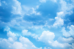 Blue cloudy sky. Beautiful blue cloudy sky, background Royalty Free Stock Image