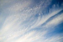 Blue cloudy sky Stock Photos
