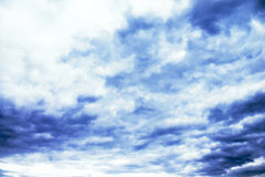 Blue cloudy sky. Day cloud space airy Royalty Free Stock Photos