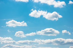 Blue cloudy sky. Royalty Free Stock Image