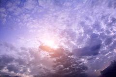 Blue cloudy sky, high resolution picture Royalty Free Stock Image