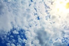 Blue cloudy sky, high resolution picture Royalty Free Stock Photo