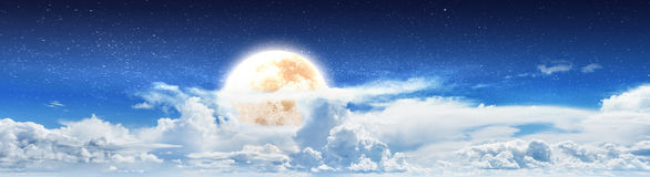 Blue cloudy sky night Royalty Free Stock Photo