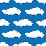 Blue cloudy sky seamless pattern Royalty Free Stock Photo