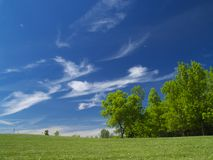 Blue cloudy sky in summer Royalty Free Stock Photography
