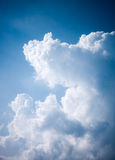 Cloudy sky in the summer day Royalty Free Stock Image