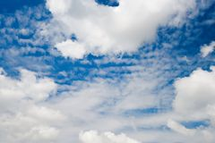 Blue cloudy sky, ultrahigh resolution picture Royalty Free Stock Images