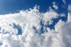 Blue cloudy sky, very high resolution picture Royalty Free Stock Photography