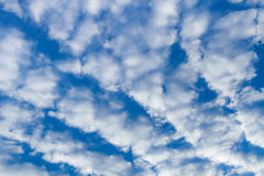 Blue cloudy sky. Stock Images
