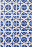 Blue clovers tiles Stock Photography