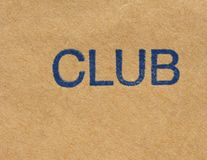 Club stamp over paper Stock Photography