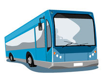Blue coach bus Royalty Free Stock Photography