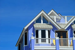 Blue Coastal Home Royalty Free Stock Photo