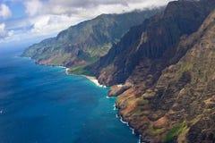 Blue Coastline. Coastline on the island of kuai Stock Images