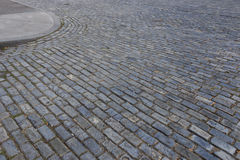 Blue cobblestone bricks Stock Photos