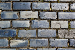 Blue cobblestones Royalty Free Stock Images