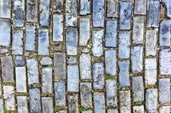 Blue Cobblestones - Old San Juan, Puerto Rico Stock Photo