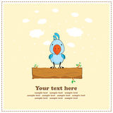 Blue cockatoo parrot, greeting card, vector Royalty Free Stock Image