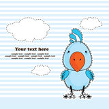 Blue cockatoo parrot, greeting card, vector Royalty Free Stock Images