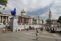 Blue cockerel Trafalgar Square London Royalty Free Stock Images