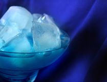 Blue cocktail Royalty Free Stock Images