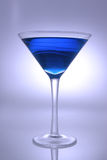 Blue Cocktail. In martini glass Royalty Free Stock Image