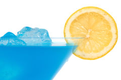 Blue cocktail Royalty Free Stock Image