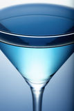 Blue cocktail close-up Stock Images