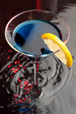 Blue cocktail drink Royalty Free Stock Photography