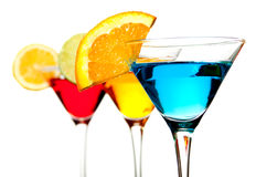 Blue cocktail drink Stock Images
