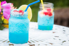 Blue Cocktail Drink Stock Image