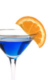 Blue cocktail with a fruit garish Stock Images