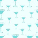 Blue cocktail glasses Royalty Free Stock Photos