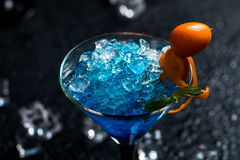 Free Blue Cocktail In Martini Glasses Royalty Free Stock Photo - 71496565