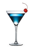 Blue cocktail isolated (pen path included) Royalty Free Stock Image