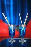 Blue cocktail Royalty Free Stock Photos